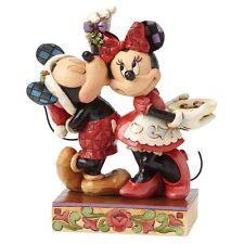 Disney Showcase Under The Mistletoe  Mickey Mouse Christmas Figurine Decoration