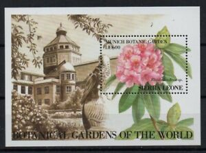 STAMPS - SIERRA LEONE - FLOWERS - RHODODENDRON - MINIATURE SHEET - 1991