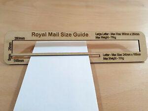 Royal Mail PPI Letter Size Guide Post Office Postal Price Postage Ruler Large