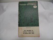 Vintage 1980 John Deere Service Summary Notebook NEW