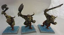 Warhammer Beasts Chaos Beastman Minotaurs 3 army lot painted metal