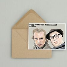 Recycled Hand Made Card Bottom Inspired Birthday Card Funny/Humour