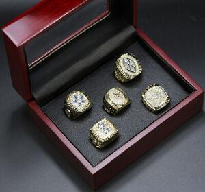 Dallas Cowboys Super Bowl Championship 5 Display Gold Ring Set with Box