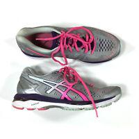 Asics Gel Kayano 23 Running Shoes Womens Size 9.5 Gray Pink T696N