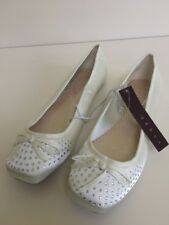Ivory Satin Pumps / Shoes - Debenhams Debut Size 6 ⭐️New⭐️