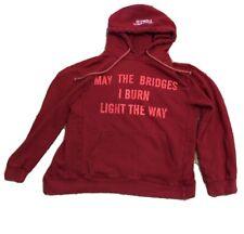 Vetements Hood Sweatshirt Demna Gvasalia May The Bridges I Burn Light The Way M