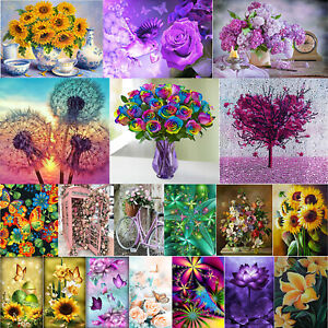 5D Diamond Painting Full Diamant Kreuzstich Stickerei Malerei Blumen Bilder Deko