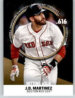 2019 Topps Series 2 Significant Statistics #11 Gold /50 J.D. MARTINEZ Red Sox