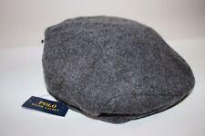 NWT RALPH LAUREN Size S/M Men's Charcoal Wool Blend Suede Brim Driving Cap