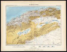 Antique Map-ALGIERS-ORAN-ALGERIA-AFRICA-Reclus-Perron-1886
