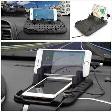 1 un. Soporte de panel de control de Silicona Soporte Para Coche Cargador Usb De Montaje Cuna Para Todos Los Teléfonos