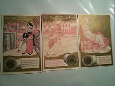 "#ORIGINAL VICTORIAN Lot of 3 Trade Card 4.5 x 2.75"" J&P. COATS Mother & Child"