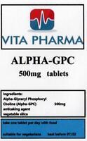 Hoch Stärke Alpha 99% Gpc 500mg 120 Tabs Cognitive Funktion Gehirn Gesundheit