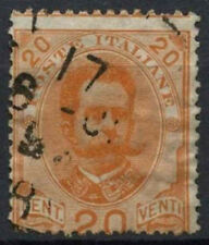 Italy 1891-7 SG#58, 20c Orange Used Perf Shift Error #D8817