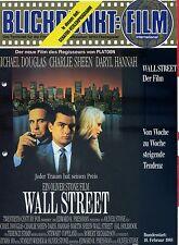 Blickpunkt Film Nr. 3 1988 13. Jahrg. Wall Street Michael Douglas Charlie Sheen