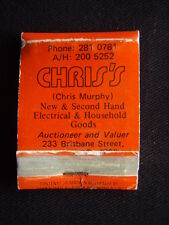 CHRIS'S MURPHY NEW & SECOND HAND ELECTRICAL & HOUSEHOLD GOODS 2810781 MATCHBOOK