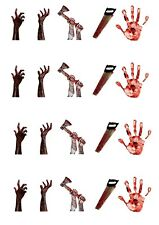 20 Stand Up Halloween Horror Hands Theme Design Edible Cake Toppers