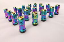 TGR Motorsport Locking Neochrome Steel Wheel Nuts With Gold Ends 12 x 1.25