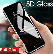 For iPhone 7 Screen Protector Tempered Glass 5D Curved Full Cover BLACK