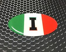 "Italia Italy Domed Decal Azzurri car Emblem Flexible 3D 3.25""x 2"" Oval"