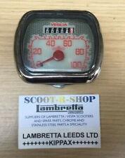 LAMBRETTA LD D INNOCENTI VEGLIA 100 KMH SPEEDOMETER REPRODUCTION SPEEDO. NEW