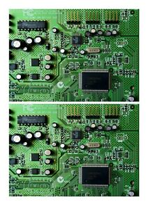 2 x A5 EDIBLE Computer Circuit Motherboard EDIBLE CAKE TOPPER Icing Sheet