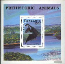 Tanzania Bloque 146 (edición completa) nuevo 1991 prehistoria animales
