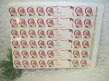 CHRISTMAS SEALS 1983 SANTA CLAUS STAMPS AND GIFT TAGS ARTIST BOB LARKIN