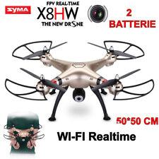 DRONE SYMA X8 HW FPV WIFI BLOCCO ALTEZZA 2 BATTERIE RICAMBI