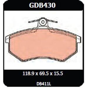 Audi 90 Quattro 2.2 1985-1987 TRW Front Disc Brake Pads GDB430 DB411