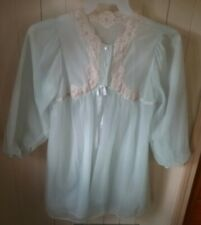 Vintage Blue Double Layer Sheer Gossard Artemis Robe/Nightgown size Small
