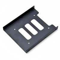 "2.5"" To 3.5"" Adapter Hard Drive Holder Black Metal Mounting SSD HDD Bracket Dock"