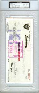 Al Davis Autographed Signed Check Oakland Raiders Gem Mint 10 PSA/DNA 83905995