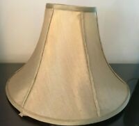 """Vintage Light Brown Fabric Lampshades 10 1/2"""" Tall Great Quality"""