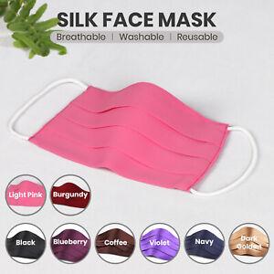 Luxury Silk face mask Soft Feel Washable Reusable High Quality  UK Silk Mask