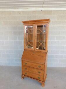 Jasper Cabinet Oak Chippendale Style Secretary Slant Front Desk