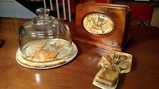 Retro 60's Cheese  Dome & Plate, Napkin  Holder and Spoon Rest