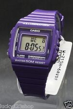 W-215H-6A Purple 50m Casio Watch Unisex Digital Alarm Chronograph Resin Band New