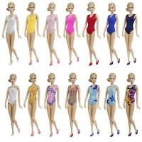 5 Sets Swimwear Beach Bikini Bathing Summer Clothes + 5 Shoes For 11.5 inch Doll