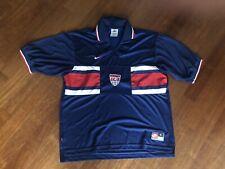 Inghilterra Cut And Sew T Shirt Tee Top Blu Navy con Marchio da Uomo fanatici di calcio.