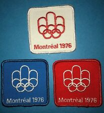 3 Lot 1976 Olympic Summer Games Montreal Canada Hat Hipster Jacket Patches Rare