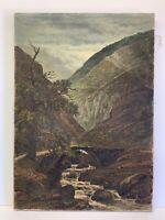 "Original Oil Painting Signed On Canvas Armenian Artist Landscape Vintage 15x22"""
