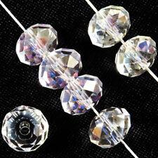 Lot de 20 Perles à Facettes Rondelles en cristal 8x6mm Cristal AB