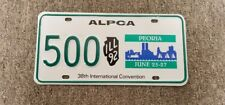 Very Nice 1992 Peoria Illinois ALPCA 38th Annual Convention License Plate