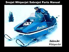 SNOJET WHISPERJET SABREJET PARTS MANUALs for 1973 1974 1975 Sno Jet Snowmobiles