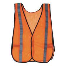 "Case of 100 Condor 2Re21B Orange/Silver High Visibility Safety Vests 18"" Mesh"