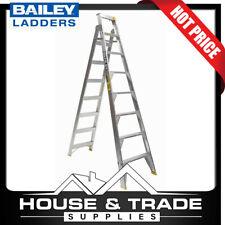Bailey Ladder 2.4m - 4.4m 150kg 8 Step Pro Dual Purpose Punchlock FS13397