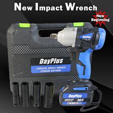 "Impact Wrench 1/2"" Impact Drive Ratchet Rattle Nut Gun 6.0A  Li-ion Cordless"