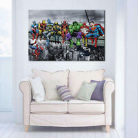 Super Hero Ink Painting Home Decoration Canvas Art Mural Printing No Frame
