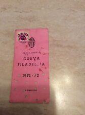 Rarissimo abbonamento stadio juventus campionato 1971-72 curva Filadelfia